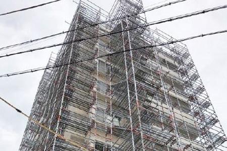 大規模修繕工事用足場